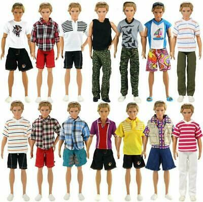 Random Style 3 Sets Fashion Casual Sporty Summer Set Outfit For Barbie Ken Doll