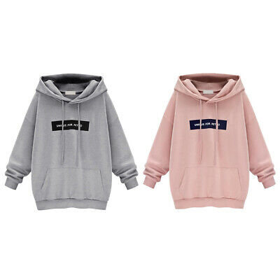 1pc Casual Fleece Hooded Top Warm Coat Women Hoodies Cartoon Letters Pullovers