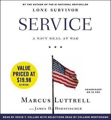 New Audio Book Service: A Navy Seal at War by Marcus Luttrell Unabridged 10 CDs