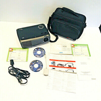 Optoma EP728 DLP Portable Projector with Carrying Case Bundle