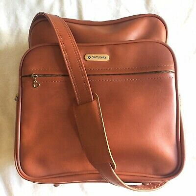 Vintage Samsonite Luggage Bag Travel Carry On Brown with Key Excellent Condition