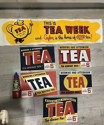 Very Old Paper Label Tea Signs