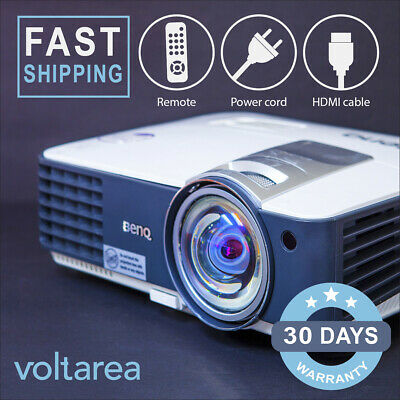 BenQ MX819ST DLP Projector Short-Throw HDMI with remote 3D 3000 ANSI prestine