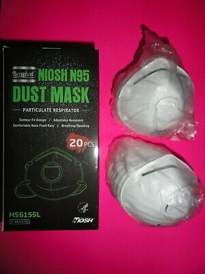 Benehal 20 Face Mask NIOSH N95 Particulate Respirator w/  Exhalation Valve Dust