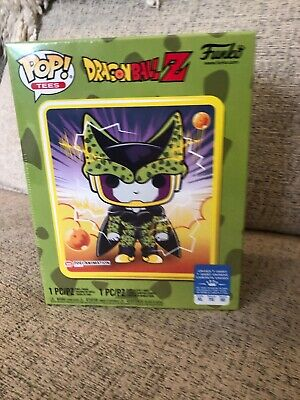 Funko Pop! Dragon Ball Z Perfect Cell Box~ Sealed~ Gamestop Exclusve~ Xl Tee~