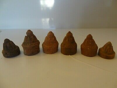 Antique Mongolian Tibetan Buddhist Various Votive Clay Stupas Tsa Tsa