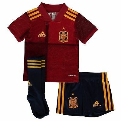 adidas Kids Boys Spain Home Mini Kit 2020 International Minikit Football Jersey