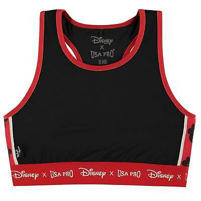 USA Pro Kids Girls Disney Crop Top Sports Bra Underwear