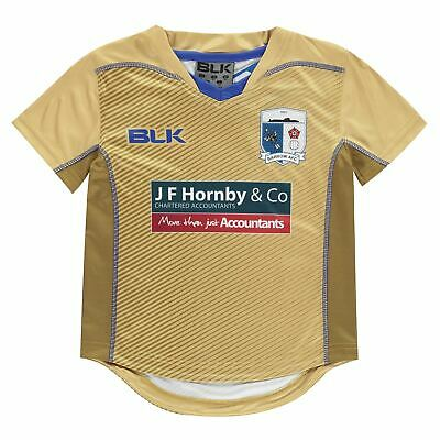 BLK Kids Boys Barrow AFC Jersey T Shirt Licensed Short Sleeve Performance Tee