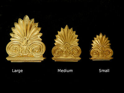 Vintage Brass Stampings Raw Brass / Ancient Ornate Columns / 3 Sizes