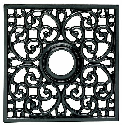 (Lot of 10) Westinghouse Ceiling Medallions Square Parisian Scroll 18x18 (BLACK)