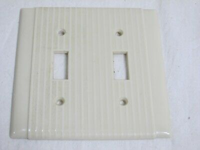 Uniline Ivory Double Switch Plate