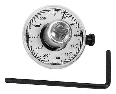 """1//2/"""" Drive TORQUE ANGLE GAUGE 360 Degree Scale 2 Degree Increments Easily zeroed"""