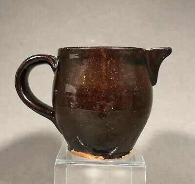 Early American 19th Century Redware Pitcher