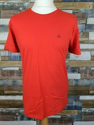 Duck And Cover S Mens Poppy Red Morley V-Neck T-Shirt BNWT New Top DAC150489