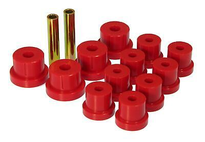 Prothane 1-1001 Red Front Spring Eye and Shackle Bushing Kit for Jeep CJ5 and CJ6