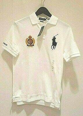 Polo Ralph Lauren Classic Fit Polo Crest & Big Pony Shirt in White w/ Blue Pony