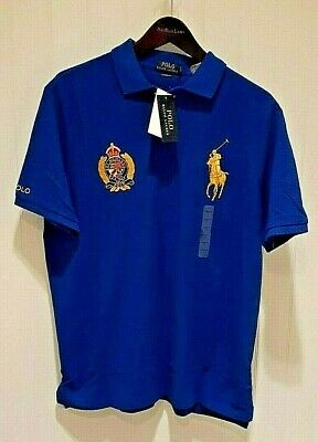 Polo Ralph Lauren Classic Fit Polo Crest & Big Pony Shirt in Royal Blue