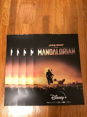 LOT of (5) - NEW: The Mandalorian Star Wars Original Promo Poster from Disney+