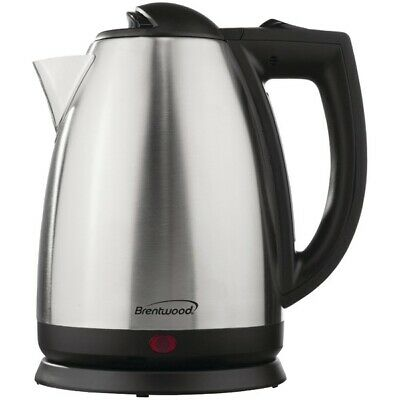 Brentwood Appliances KT-1800 2-Liter Stainless Steel Electric Cordless Tea