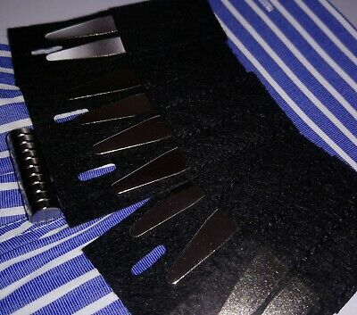 5 Pairs of Steel Collar Stiffeners/Stays + 5 Pairs of Magnets- £10