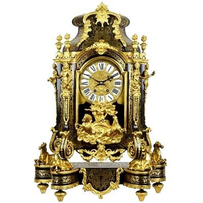 A Very Impressive  19th century Large Boulle  Mantel Clock