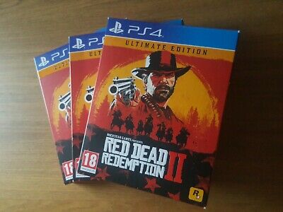 Red Dead Redemption 2 Ultimate edition Steelbook & Map Only PS4 * No Game *