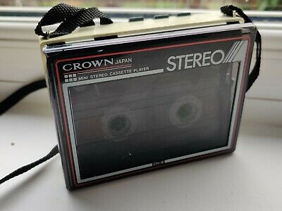Crown Personal Cassette Player 80s