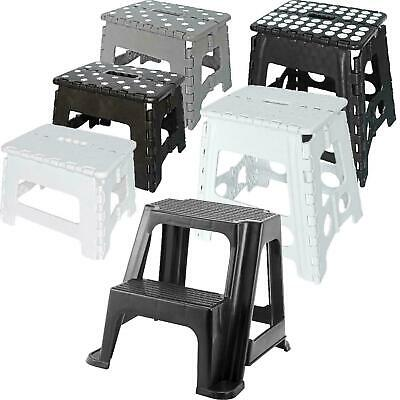 Folding Step Stool Plastic Foldable Multi Purpose Dual Step Stool Small Large