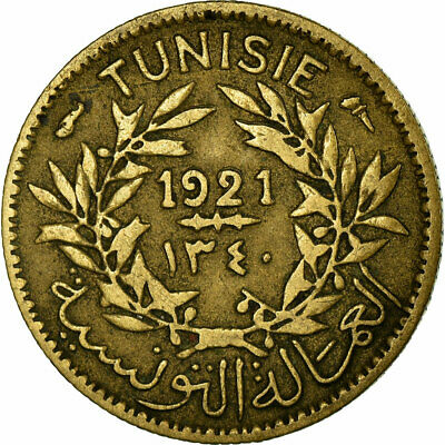 [#739267] Coin, Tunisia, Anonymous, 50 Centimes, 1921/AH1340, Paris, VF(30-35)