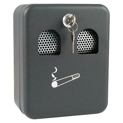 Outdoor Wall Mounted Lockable Smoking Cigarette Bin Metal Ashtray With Key Lock