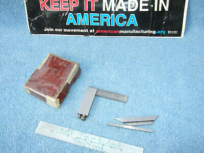 Starrett 453-E Die-Makers Square Vintage Usa Machinist 4 Pieces Box Inspection!