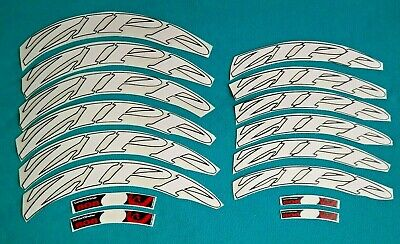 FOR 1 RIM ZIPP 808 2014 STYLE UCI WORLD CHAMPION COLORS RIM DECAL SET FOR
