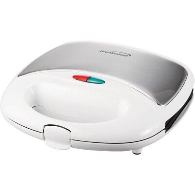 Brentwood Appliances TS-240W Nonstick Compact Dual Sandwich Maker (White)