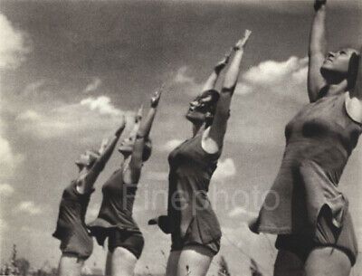 1936 OLYMPICS German Female Gymnasts Fitness Exercise Photo Art LENI RIEFENSTAHL