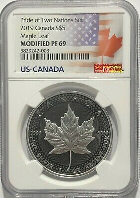 2019 $5 Silver Pride Of Two Nations Canadian Ngc Pf69 Modified Proof Canada