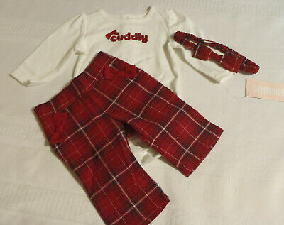 NWT GYMBOREE Holiday Traditions Bodysuit Shirt Top Plaid Bow Trim