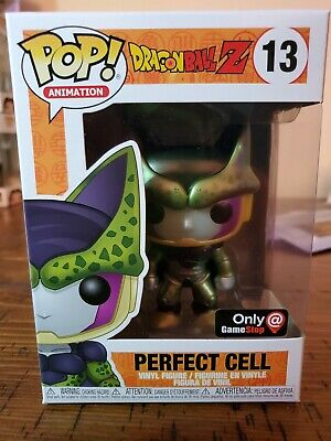 Funko Pop! Perfect cell #13 metallic dragon ball Z Gamestop exclusive