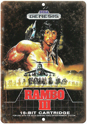 """Rambo III Sylvester Stallone UNIQUE metal sign large size 12/""""x16/"""" NEW S54"""