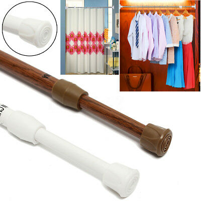 Spring Loaded Telescopic Extendable Voile Net Tension Curtain Pole Rail Rods UK