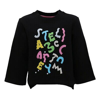 2539AB felpa bimba GIRL STELLA McCARTNEY KIDS black multicolor sweatshirt
