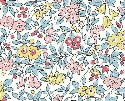 Forget me not Flower Spring Show Blue Pink Liberty Fabric FQ Metre 100% Cotton