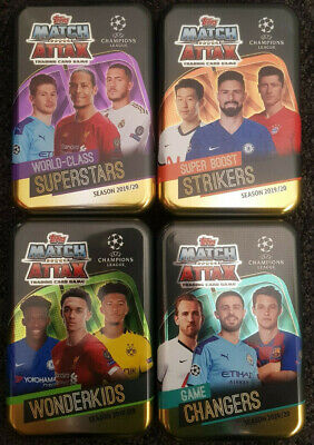 CLEARANCE 2019/20 Match Attax UEFA Mega Tins - Choose tin and contents! Messi