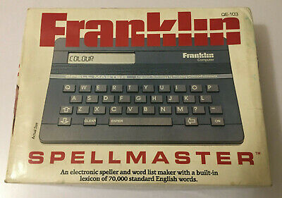 Franklin Spellmaster QE-103 - vintage 1980's Working With Manual