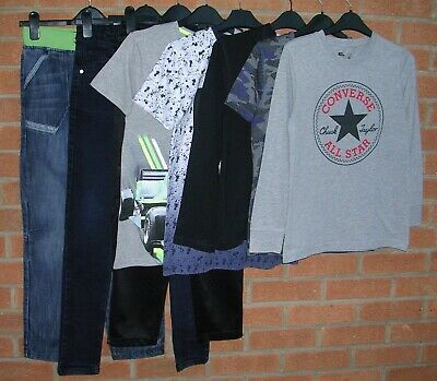PUMA CONVERSE M&S BLUEZOO etc Boys Bundle Jumpers Tops Jeans Shirts Age 11-12