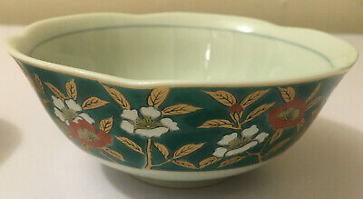small chinese or japanese bowls, beautiful floral design.
