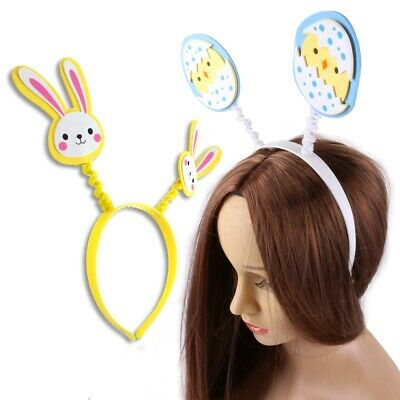 Kids Easter Head Bopper Bunny Cosplay Fancy Costume Glitter Head Band One Size