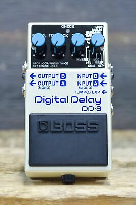 Boss DD-8 Digital Delay 10 Delay Types with Looper Stereo Delay Effect Pedal