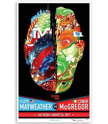 Tristan Eaton Mayweather VS McGregor Fight Sold Out Print Numbered And Signed