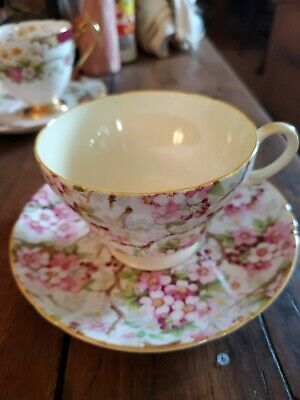 Shelley Fine Bone China, Cup & Saucer, MAYTIME, Made In England